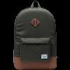 Image for Herschel Heritage Backpack (Dark Olive/Saddle Brown)