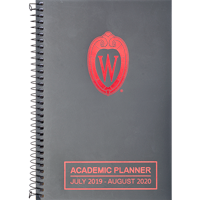 Cover Image For Roaring Spring Academic Planner July 19-August 20 (Gray/Red)