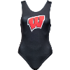 Cover Image for ZooZatz Women's Bucky Badger Crop Tank Top (White)