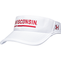 Cover Image For Under Armour Wisconsin Adjustable Visor (White)