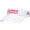 Image for Under Armour Wisconsin Adjustable Visor (White)