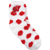 Image for ZooZatz Women's Fuzzy Polka Dot Socks (Red/White)