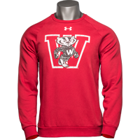 Cover Image For Under Armour Vault Bucky Badger Crewneck (Red) *