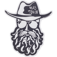 Image For Blue 84 Bearded Man Mad Town Decal