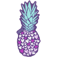 Image For Blue 84 Pineapple Hearts Madison Decal