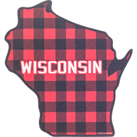 Cover Image For Blue 84 Plaid Wisconsin State Decal