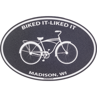 Image For Blue 84 Biked It Liked It Decal