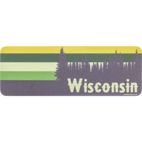 Cover Image For Blue 84 Green Wisconsin Decal