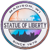 Image for Blue 84 Statue of Liberty Decal