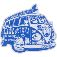 Image For Blue 84 VW Surf Bus Decal