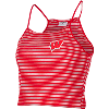 Image for ZooZatz Women's Crop Striped Motion W Tank Top (Red/White)