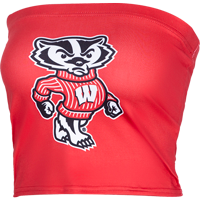 Cover Image For ZooZatz Women's Wisconsin W Tube Top (Red)