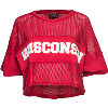 Image for Spirit Jersey Women's Crop Mesh Wisconsin Top (Red)