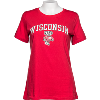 Image for Gear for Sports Women's Scoop Neck Wisconsin Tee (Red)