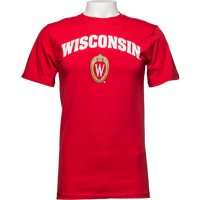 Cover Image For Alta Gracia Wisconsin Shield Tee (Red)