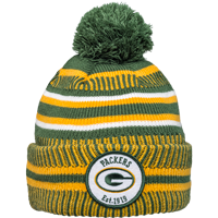 Cover Image For New Era Knit Green Bay Packers Pom Hat (Green/Yellow)