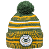 Image for New Era Knit Green Bay Packers Pom Hat (Green/Yellow)