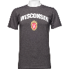 Image for Alta Gracia Wisconsin Shield Tee (Gray)