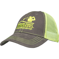 Image For Ahead AmFam Mesh Adjustable Hat (Gray/Yellow)