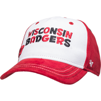 Image For '47 Brand Toddler Wisconsin Badgers Adjustable Hat (Red/Wht)
