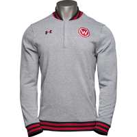 Image For Under Armour WI Badgers 150 Year Commemorative ¼ Zip (Gray)*