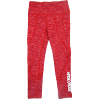 Image For ZooZatz Youth Wisconsin Pocket Leggings (Red Space Dye)
