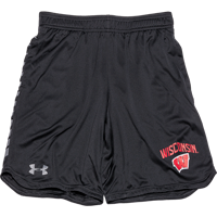 Image For Under Armour Youth Wisconsin MK1 Shorts (Black)