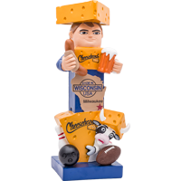 Image For Evergreen Sports Wisconsin Cheesehead Garden Statue