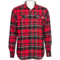 Image For Columbia Wisconsin Flannel Shirt (Red/Black) *