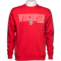 Cover Image For Alta Gracia Wisconsin Crew Neck Sweatshirt (Red)