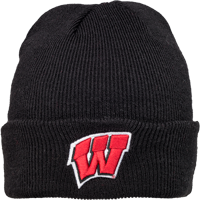 Image For '47 Brand Wisconsin Cuffed Beanie (Black)