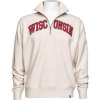 Image For '47 Brand Wisconsin ¼ Zip Sweatshirt (Cream)