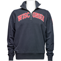Image For '47 Brand Wisconsin ¼ Zip Sweatshirt (Navy)
