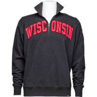 Image For '47 Brand Wisconsin ¼ Zip Sweatshirt (Black)