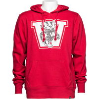 Image For '47 Brand Vault Bucky Badger Hooded Sweatshirt (Red) *