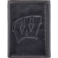 Image For Carolina Sewn Leather Motion W Tri-Fold Wallet (Black)