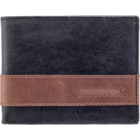 Image For Carolina Sewn Westbridge Two-Tone Bi-Fold Wallet (Black)