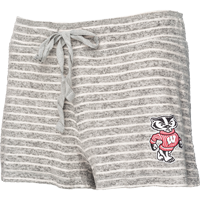 Cover Image For Boxercraft Women's Bucky Badger Knit Shorts (Gray/White)