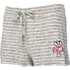 Image for Boxercraft Women's Bucky Badger Knit Shorts (Gray/White)