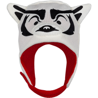 Image For ZooZatz Toddler Bucky Badger Knit Hat (White)