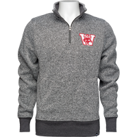 Image For '47 Brand ¼ Zip Vault Sweatshirt (Gray) *