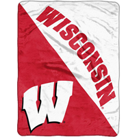 Image For Northwest Wisconsin Super Plush Blanket (Red/White)