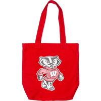Image For Carolina Sewn Cotton Canvas Bucky Tote (Red)
