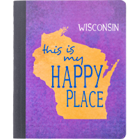 Image For Barcharts, Inc. Wisconsin Happy Place Notebook
