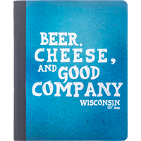 Image For Barcharts, Inc. Beer, Cheese, and Good Company Notebook
