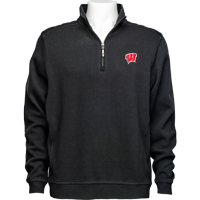 Cover Image For Tommy Bahama Wisconsin Nassau Half Zip (Black)