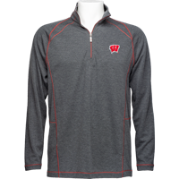 Image For Tommy Bahama Wisconsin Final Score Half Zip (Charcoal)