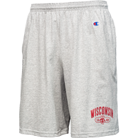 Image For Champion Wisconsin 1848 Cotton Shorts (Gray)