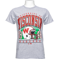 Image For '47 Brand Wisconsin Vintage Tubular T-Shirt (Gray)