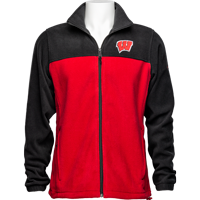 Image For Columbia Wisconsin Flanker Fleece Jacket (Red/Black) Tall